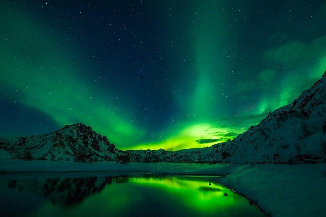 Aurores boréales, Islande