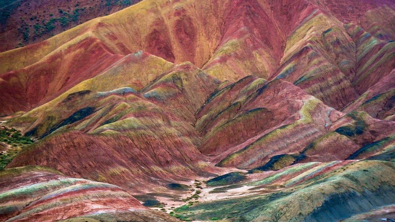 Géoparc de Zhangye Danxia, Chine